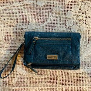 Kenneth Cole Reaction Teal Fold Over Purse